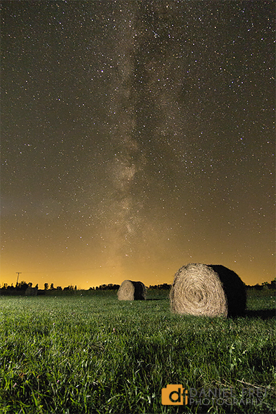 Milky Way and Bale of Hay near Port Hope, Michigan